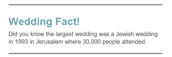 Wedding Fact 1