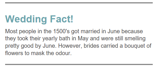 Wedding Fact 4