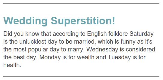 Wedding Fact 5