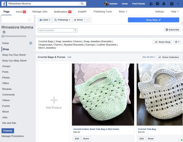 Facebook Business Page Adding Products
