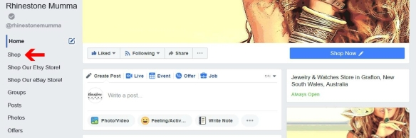 Facebook Business Page Shop Tab