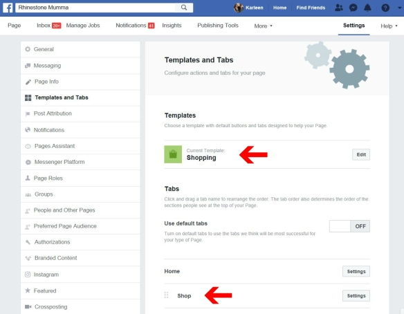 Facebook Business Page Templates and Tabs Page